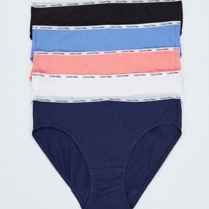CALVIN KLEIN Womens 5-Pack Cotton Stretch panties